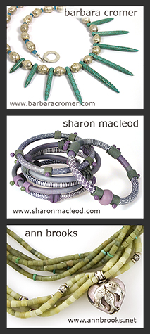 Jewelry of Barbara Cromer, Sharon MacLeod and Ann Brooks in Ornament Magazine