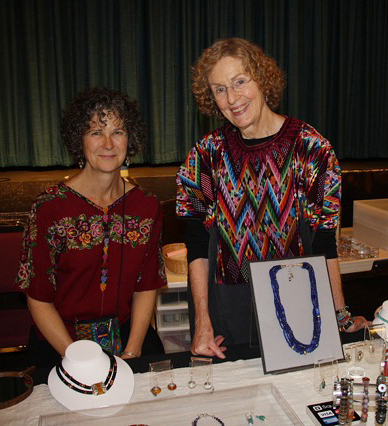 Ann Brooks with Jeanmarie Nutt at De Young Museum's 2011 Ethnic Textile Bazaar